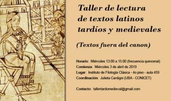 taller de textos latinos tardíos